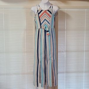 Truly Me striped sleeveless girls jumpsuit